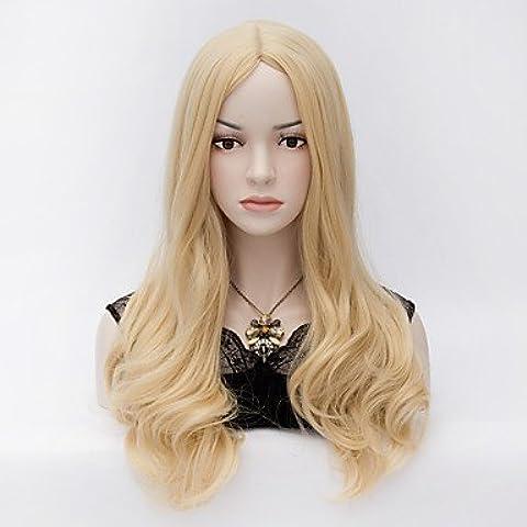 HJL-il vento europeo ed americano pallido parrucca di capelli ricci lunghi oro , blonde