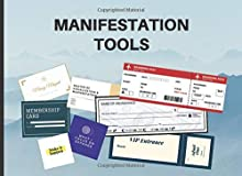 Manifestation Tools: Abundance Checks, Business Cards, Boarding Passes and More to Manifest Your Dreams and Desires | Law Of Attraction Kit (Vision Board Supplies 2021 for Goal Visualization)