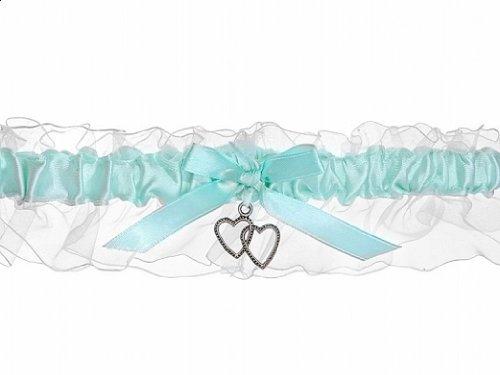 Strumpfband Satin hellblau für die Braut - Hochzeit