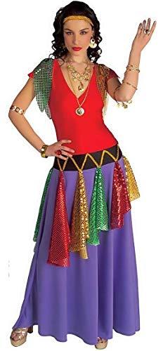Widmann m - costume - travestimento - carnevale - halloween - zingara - etnica - sinti - rom - colore viola - adulti - donna - ragazza