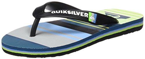 Quiksilver Molokai Everyday Stripe, Sandales Plateforme garçon De plusieurs couleurs (Noir / Vert / Gris (Black / Green / Grey))