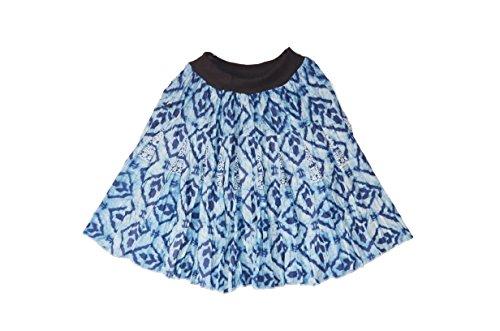 Crapgoos Cotton Blue short skirts for Women & Girls (Blue)