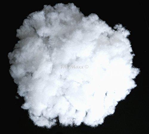TM Maxx PES Füllwatte Bastelwatte antiallergisch Füllung Öko-Tex Füllmaterial für Kissen (4000 g (4 kg) - ca. 200 Liter)
