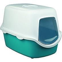 Trixie Vico Bac à litière pour chat Turquoise/blanc