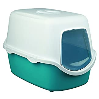 Trixie Vico Litter Tray for Cats Turquoise/White 7
