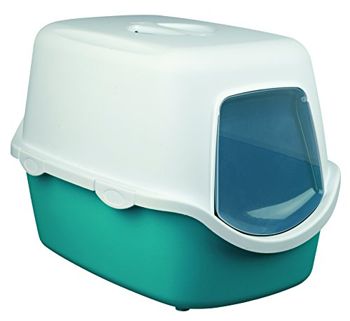 Trixie Vico Litter Tray for Cats Turquoise/White 1