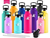 KollyKolla Metal Water Bottle Vacuum Insulated Water Bottles with Straw & Filter Hot