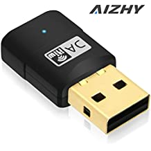 600 Mbps USB WiFi Dongle Adaptador de red inalámbrica de doble banda Color, 2,4/5.8Ghz tarjeta de red para PC/de sobremesa/portátil/Tablet, compatible con 802.11 a/AC/B/G/N, compatible con Windows XP/7/8/8.1/10, Linux, Android (32/64bits)