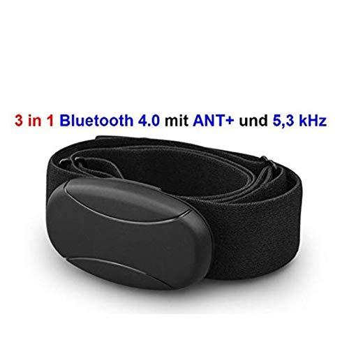 BRUSTGURT BLUETOOTH 4.0 und ANT und 5 kHz uncodiert für RUNTASTIC , WAHOO , STRAVA App , für ANDROID wie SAMSUNG S3 / S4 / S5 / S6 / S7 / S8 / S9 / S10, SONY , LG , HTC , Google Herzfrequenzmesser