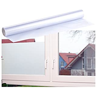 infactory Sichtschutzfolie: Milchglasfolie, statisch haftende Sichtschutz-Folie, 40 x 200 cm (Milchglas Fensterfolien)