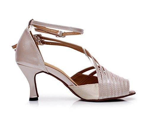 Minitoo ,  Damen Jazz, modern Brown-7.5cm Heel