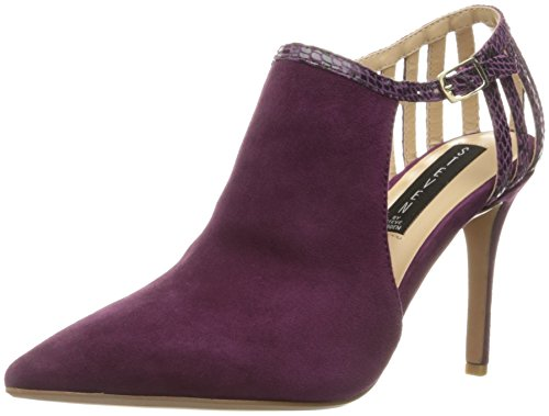 STEVEN by Steve Madden Women's Amya Dress Pump, Plum Suede, 7.5 M US