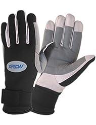 Segelhandschuhe au doigt, paume en néoprène renforcée gants pour sports nautiques, la voile et bien plus encore