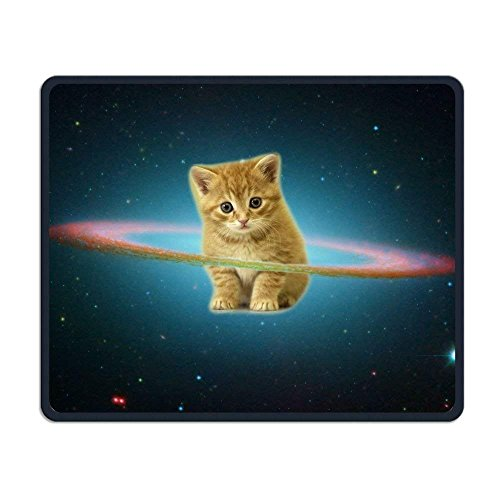 Wireless Mouse Pad, Cute Kitten in Space Galaxy Mouse Pads, Magic Keyboard PC Gaming Optical Laptop Wired SurfaceMouse Pad Mat for Women Men at Home or Work Ihome Notebook