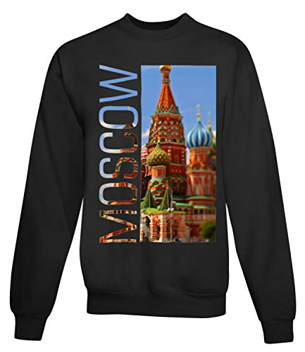Billion Group | Colourful Moscow | City Collection | Women's Unisex Sweatshirt Noir