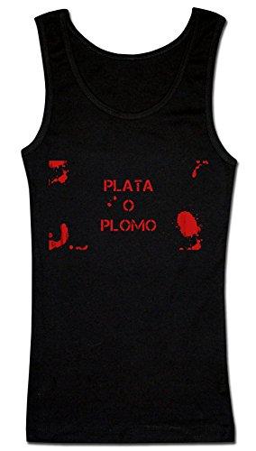 bloody-plata-o-plomo-artwork-womens-tank-top-shirt-medium