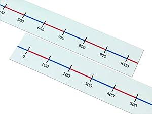 Learn Well T1163 - Líneas para números de Mesa (0 a 1000, 10 Unidades)