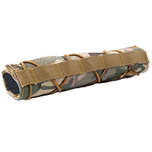 OAREA Tactical Hunting Airsoft 22 cm / 8,7 Zoll Schalldämpfer-Unterdrücker Mirage Heat Cover Shield Sleeve Shooting Schalldämpfer Baffler Protector Mutlicam Cover Shield Protector