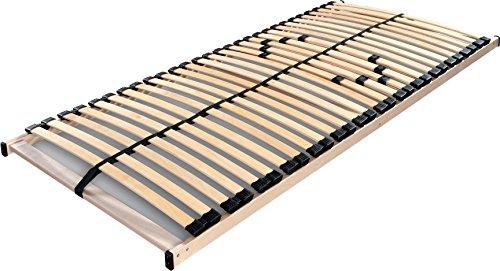 federholzrahmen 180x200 Betten ABC Lattenrost Max 1 NV zur Selbstmontage / Lattenrahmen in 90 x 200 cm mit 28 Leisten und Mittelzonenverstellung - geeignet für alle Matratzen
