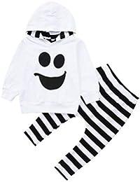 Conjuntos Bebe, ASHOP 0-4 años Niño Niña Otoño/Invierno Ropa Conjuntos, Sudadera con Capucha Tops Pullover + Pantalones a Rayas