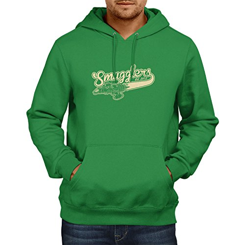 TEXLAB - Smugglers - Herren Kapuzenpullover, Größe XL, grün (Jayne Firefly Kostüm)