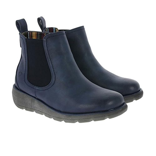 Heavenly Feet Rolo Ankle Boots Navy