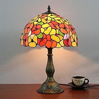 Tiffany lampada da tavolo progettata con 1 luce nel modello fiore illuminazione - Amazon lampade da tavolo ...