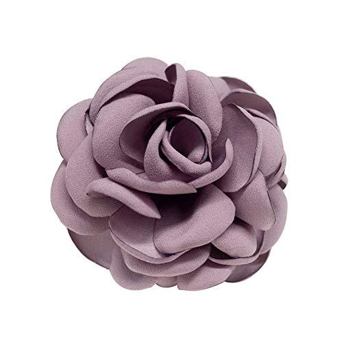 Broches faites à la main à la mode de femmes Broches à fleurs élégantes 2 pièces, violet