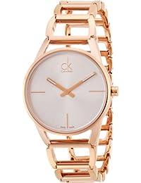 Calvin Klein K3G23626 - Reloj analógico de cuarzo para mujer con correa de  acero inoxidable bañado e60df0e517bd