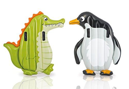 Preisvergleich Produktbild Kinder Luftmatratze Schwimmtier Surfer Pinguin 114 cm 2 Griff