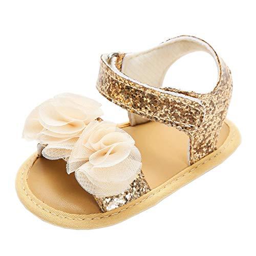 by Mädchen Kinder Kleinkind Blumen Sandalen Glitter Pailletten Dekor Weichbesohl Prinzessin Schuhe Firstwalker Sommer Schuhe Touch Befestigen Flache Sandalen ()