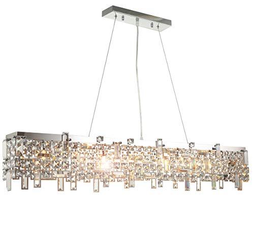 Luxus Led Design Kronleuchter Kristall Hängeleuchte Deckenleuchte Pendellampe mit K9 Glaskristallen Pendelleuchte Lüster 110cm inkl. Led Leuchtmittel