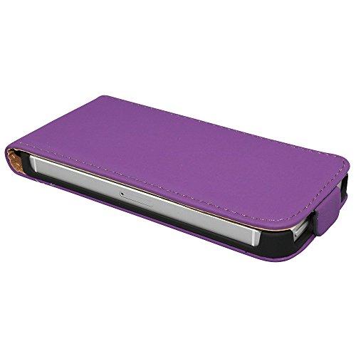 Avcibase 4260344989201 Flip PU Kunstleder Schutzhülle für Apple iPhone 4/4S rot Violett