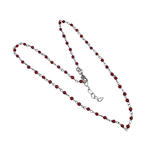 Silvestoo India Red Coral Gemstone Necklace PG-123764