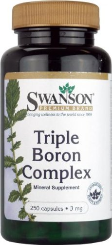 Swanson Triple Boron 3mg, 250 Capsules by Swanson Health Products