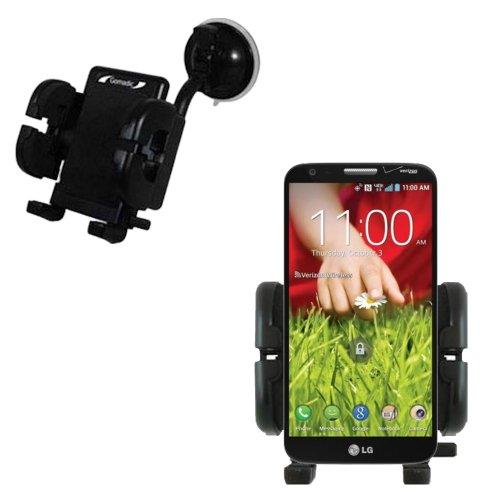 LG G2 Windschutzscheibenhalterung für KFZ / Auto - Cradle-Halter mit flexibler Saughalterung für Fahrzeuge (Lg G2 Windschutzscheibenhalterung)