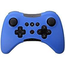 Suave silicona funda piel funda Sleeve for Nintendo Wii U Pro WiiU inalámbrico controlador azul