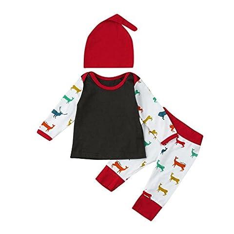 Cerf Costume Outfit - Saingace 3 PIÈCES Bébé Filles Garçons Cerf