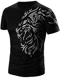 Culater® Hombre Camiseta, Polos de Manga Corta T-Shirt Tigre