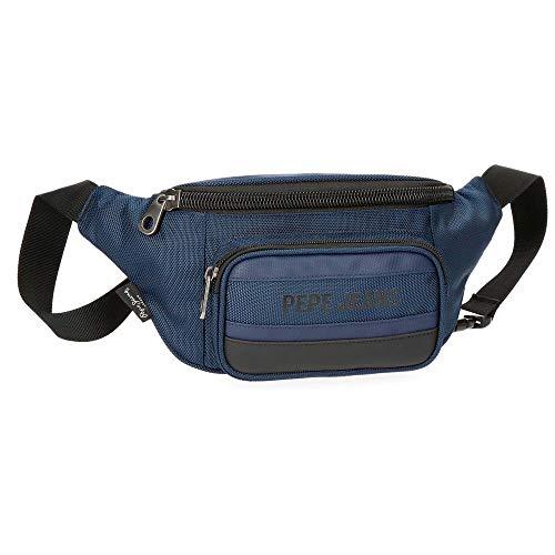 Riñonera Pepe Jeans Bromley Azul bolsillo trasero