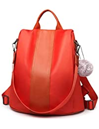 65f2ce35ac Miss Lulu Women Backpack Casual Waterproof Nylon Shoulder Bag Rucksack with Grab  Handle Anti-theft