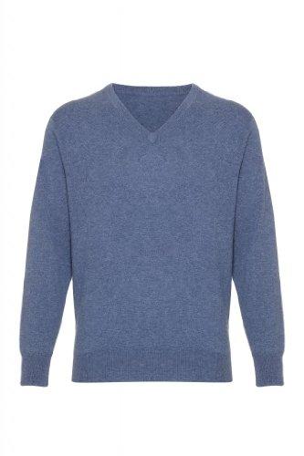 Mens Cashmere scollo a V maglione jeans 3XL