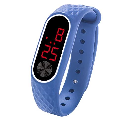 TTLOVE Kinder Uhren Led Digitalanzeige Armbanduhr Fitness Wasserdicht Uhr Armband, Smart Watch FüR Kinder Herren Damen Mehrfarbig WäHlbar