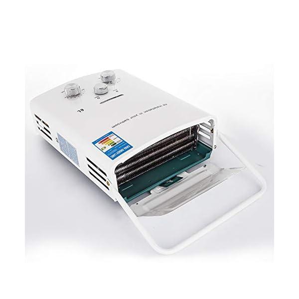 Bisujerro 6L Calentador de Agua Portátil LPG Calentador de Agua sin Tanque 12kw Calentador de Agua Eléctrico Calentador…