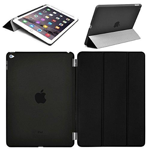 Swees® Apple iPad Air 2 Smart Cover und TPU Back Hülle Cover Case Schutzhülle Etui Tasche für das neue iPad Air 2 2014 (6. Generation), Unterstützt Sleep / Wake Funktion - Schwarz