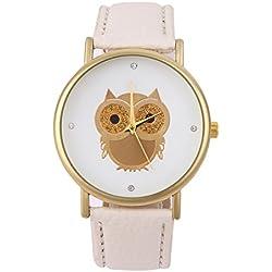 Yesurprise NEW Classic Women Lady Owl Bird Leather Band Analog Quartz Sport Wrist Watch Gift #1