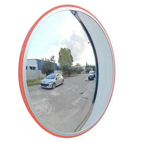 JCM-45i Konvexen unzerbrechlich Verkehrsspiegel, Durchmesser 45 cm, für Straßenverkehrssicherheit und die Sicherheit Shop mit verstellbaren Wandbefestigungsbügel