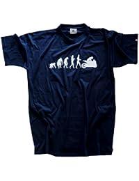 Shirtzshop Erwachsene T-Shirt Original Motorrad I Biker Evolution