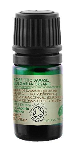 Rose Otto Essential Oil Organic - 10% Dilution in Organic Jojoba -...