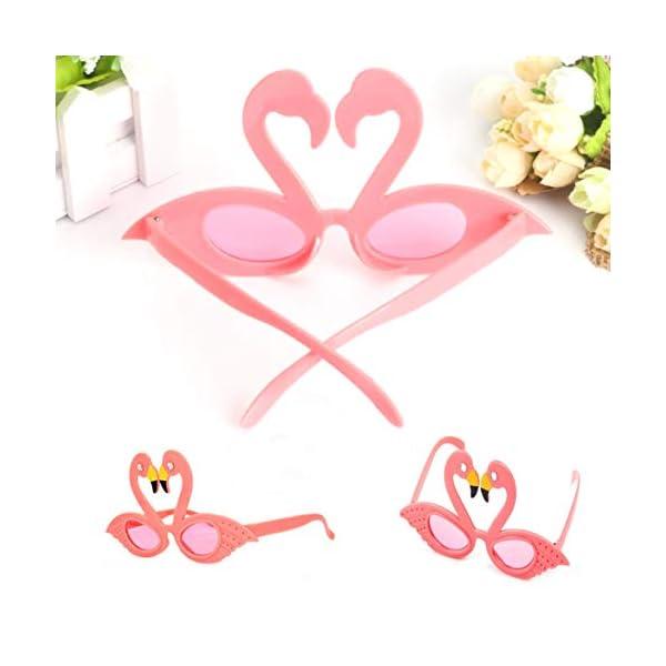 Hado Elegante, 1 pieza Flamingo anteojos de sol flamingo playa novedad decoraciones de fiesta boda decoración hawaiana… 4